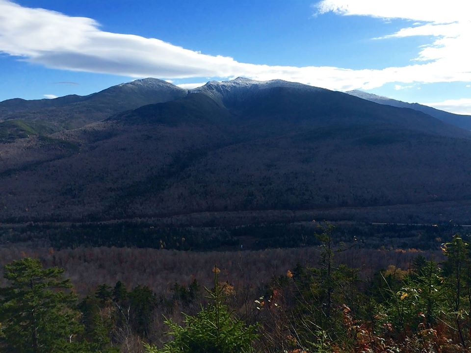 The South View on Mount Crescent-- the highpoint of the trail race, and a moment to take a breath and enjoy the view!