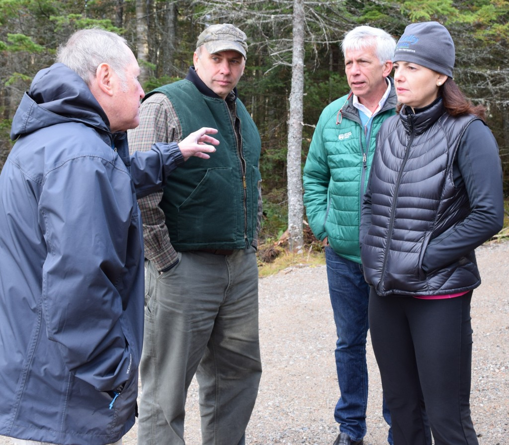 Randolph Forest Commissioners David Willcox, John Scarinza, and Walter Graff talk with US Senator Kelly Ayotte.
